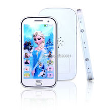 Smart learning phone english language with flash light&music song,cartoon ice princess touch screen education learning machine
