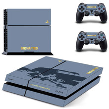 Uncharted Vinyl Decal PS4 Skin Stickers Wrap for Sony PlayStation 4 Console and 2 Controllers Decorative Skins