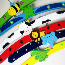 1pcs/lot New animal wooden Cartoon Children Clothes Hanger Rack Clothes Tree Baby Hanger