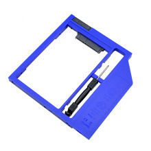 "Universal Plastic Optibay 2nd HDD Caddy 9.5mm SATA 3.0 for 9/9.5mm 2.5"" SSD Adapter CD DVD HDD Case Enclosure"