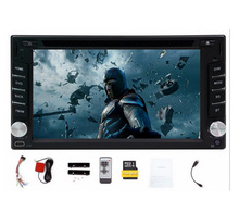"Car Multimedia Player 2 din Touch Screen car dvd player gps Bluetooth FM 6.2"" 2din in dash TFT support rear view camera input"