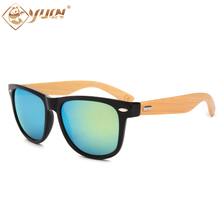 New hot cheap bamboo sunglasses handmade bamboo wooden glasses brand design sun glasses for men women custom logo available(China)