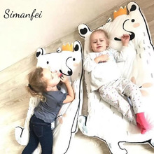 Simanfei Baby Carpets 2017 Superfine Soft Crawling Game Play Mats Rabbit Tatami Newborn Infant Sleeping Climbing floor Carpet(China)