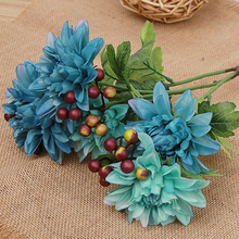 Beautiful Artificial Flower Wedding Home Decor Bouquet Dahlia Silk Flower Fake Flower