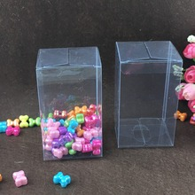 30pcs 6*6*12cm clear plastic pvc box packing boxes for gifts/chocolate/candy/cosmetic/crafts square transparent pvc Box