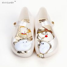 kids sandals lovely summer cartoon Beauty Beast Shoes Teacup boys Girls Shoes Jelly Sandals Princess footwear non-slip Sandals(China)