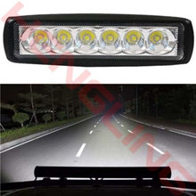Vehicle 18W Spotlight LED Work Light Light Lamp Fog Driving Light Bar Lamp For Offroad SUV Car Truck Trailer Tractor