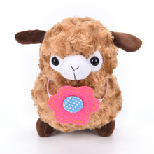 Hot Cartoon 20cm Lovely Flower Alpaca Sheep Plush Stuffed Toy Room Decoration Fashion creative fill plush toys Child gifts