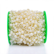 60m/roll Ivory Pearl Beads Chain Garland Wedding Centerpiece Flowers / DIY Party Christmas Decoration(China)