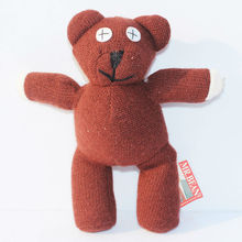 Wholesale 35cm Mr Bean Teddy Bear Animal Stuffed Plush Toy Brown Figure Doll 30pcs/Lot Child Xmas Gift EMS Free Shipping