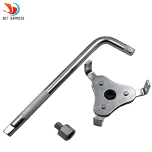 QSTEXPRESS Auto Car Repair Tools Adjustable Two Way Oil Filter Wrench Tool with 3 Jaw Remover Tool for Cars Trucks 55.39-99.35mm