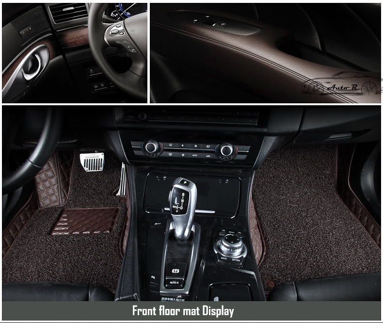 double layer coil leather car floor mats 8