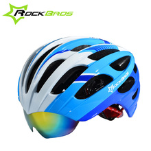 ROCKBROS Bicycle Helmet With Goggles PC+EPS Mountain Road KIntegrally Molded Ask Protone Unisex 3 Colors WT-049(China)