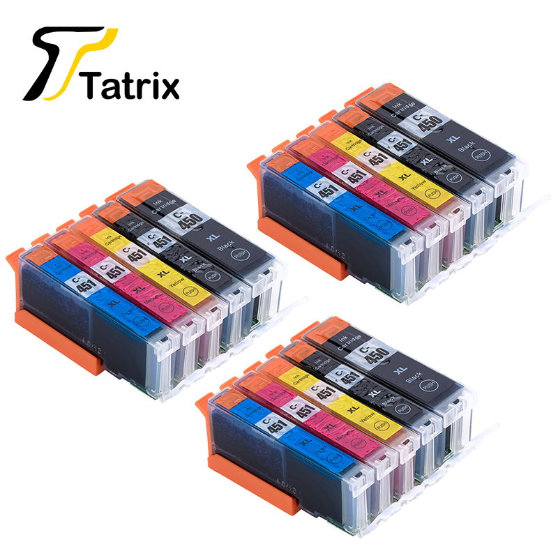 15PCS Canon PGI-450 CLI-451 450 451 Compatible Ink Cartridge Canon PIXMA MG5440/MG5540/MG6340/MG6440/MG7140 Printer