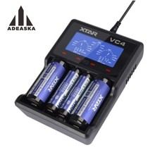 2017XTAR VC4 Intelligent Li-ion Battery Charger With LCD Screen & USB Output Can Measure Battery Capacity For Lithium Batteries