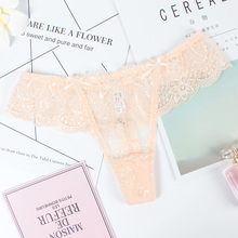 Buy women sexy seamless lace transparent panties underwear Ladies Low waist Soft Breathable briefs Thong G String Lingerie Femme