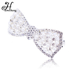 Buy Haimeikang Fashion 1PC Girls Rhinestone Bowknot Heart Shaped Hair Clip Women Pearl Barrette Hairpin Headwear Hair Accessories for $1.59 in AliExpress store