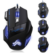 Buy 8D MASTER T80 Wired 5500DPI Adjust Optical Usb Wired LED Backlit Ergonomic Gaming Mouse Gamer 7 Buttons PC Laptop Computer for $9.99 in AliExpress store