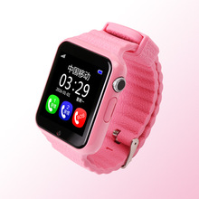 Children Security Anti Lost GPS Tracker smart watch V7K 1.54'' With camera facebook Kids SOS Emergency For Iphone&Android PK Q90