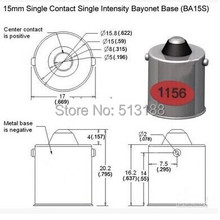 2015 Single contact bayonet base BA15S 1157 1141 1156  lamp bases for auto lamp light