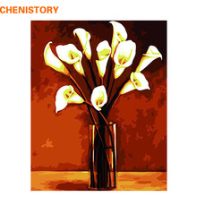 CHENISTORY Abstract Floral DIY Painting By Numbers Kit Canvas Painting Handpainted Oil Painting For Home Decoration Wall Artwork