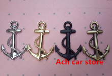 High quality 3D Metal anchor cross navy car sticker rear Trunk Decals badge emblem Auto accessories