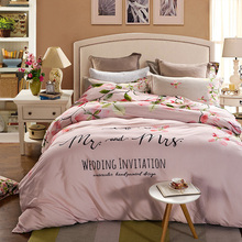 Floral wedding bedding set printed sheets designer bedding comforter set quilt cover comforter pillowcase king queen size cotton
