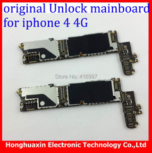 100% working original mainboard for iphone 4 4g 16GB Motherboard 100% good quality IOS system board Factory unlock logic board(China)