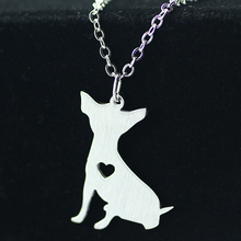 SUTEYI 2017 Korean cute chihuahua dog accessories brand stainless steel wild animal lovers pendant necklace hot selling