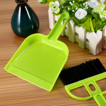 High Quality Blue Mini Plastic Hand Kitchen Dustpan And Brush Set Soft Cleaning Sweeper Dust Pan for Desk Keyboard Closet(China)