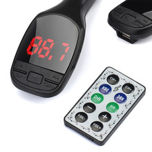 2017 Bluetooth Wireless MP3 Player FM Transmitter Modulator LCD Display SD Card Remote Hands free Car Kit MP3 Player USB Charger