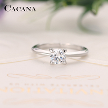CACANA Cubic Zirconia Rings For Women Slender Delicate Trendy Zinc Alloy Rings Jewelry Bijouterie Wholesale  NO.R559