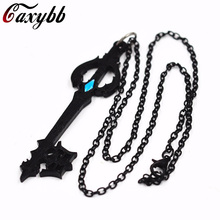 Hot Game Kingdom Hearts Oblivion Blade Necklace Alloy Jewelry Accessories Figure Cosplay Gift(China)