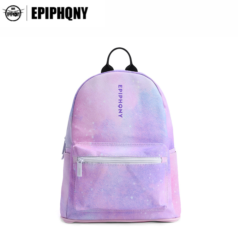 Epiphqny Fashion Brand Women Printing Simple Backpack Dream Universe Landscape Daypack Bling Colors Luxury Mochila Design<br>