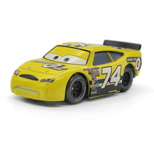 "Pixar Cars Macqueen Racing Car Yellow No.74 ""Sidewall Shine"" Disney Movie Diecast Alloy Metal Toy Model for Children 1:55"