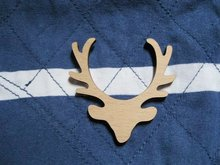 New arrive wholesale Fast shipping could be mix buying wood vintage deer head brooch(China)