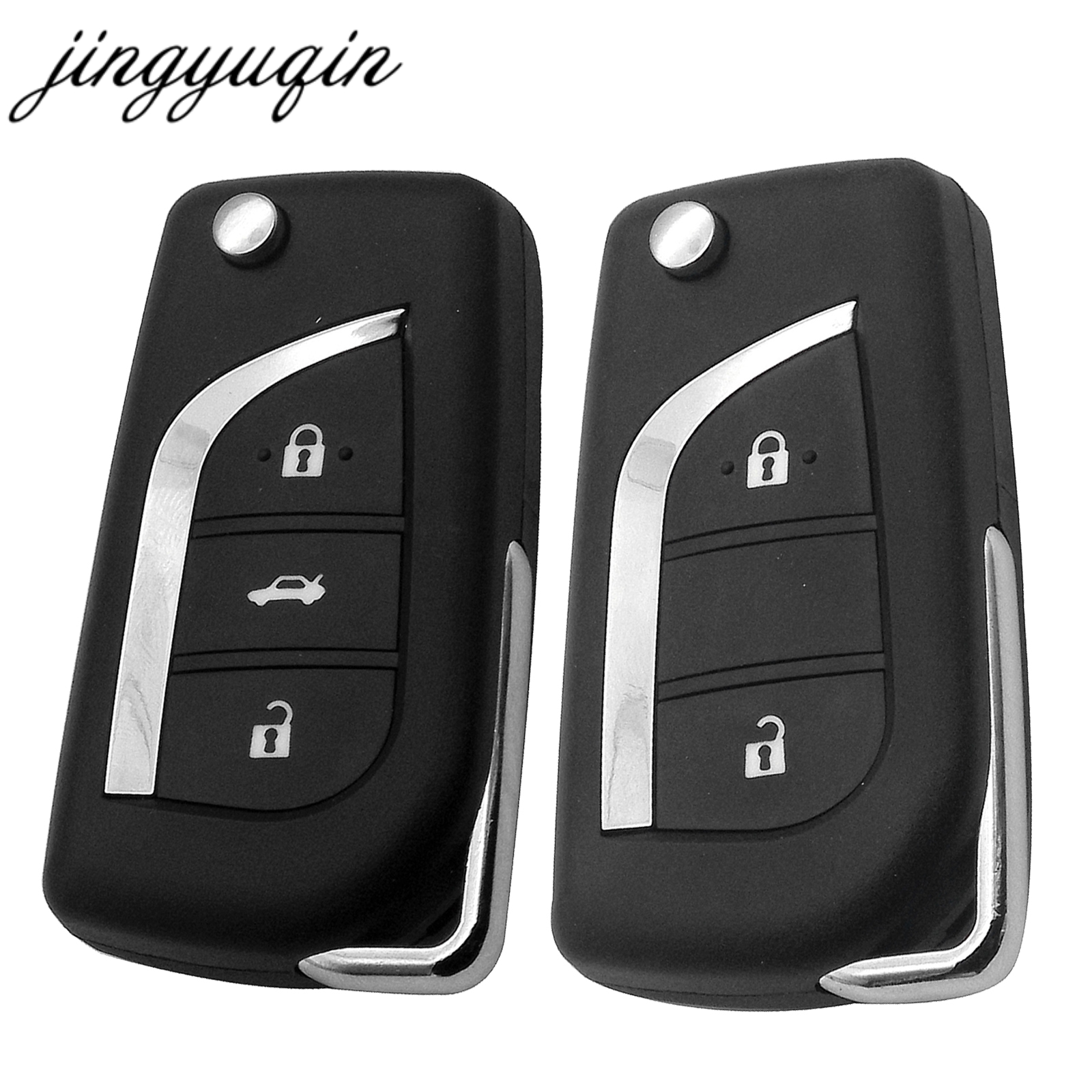 jinyuqin 2/3 Button Flip Folding Remote Key Shell for Toyota Levin Camry Reiz Highlander Corolla Key Case Toy48 Toy43(China)
