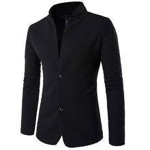 mens blazer jacket Cotton Plus Size Men Leisure Suit Trendy Fashion patchwork collar black 5XL mens blazer veste homme costume