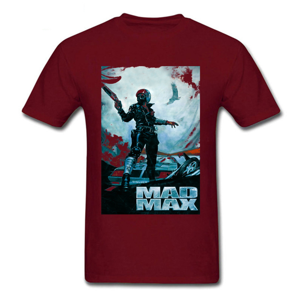 Prevalent Mad Max 23701 Short Sleeve T Shirt April FOOL DAY Crew Neck Pure Cotton Tops Shirts for Male T Shirt Party Mad Max 23701 maroon