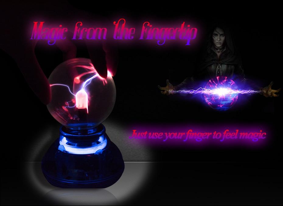 CNSUNNYLIGHT Car Music Sound Control LED USB Plasma Ball Electrostatic Lamp Decoration Atmosphere DJ Lights Party Magic Lighting (6)