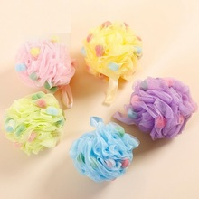 Large Bath Sponge 2pcs/lot Body Wash Bath Ball Soft Diameter 13cm Flower Mesh High quality Cleaning tools Candy Color randomly(China)