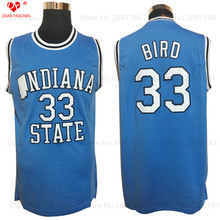 Mens Cheap College Basketball Jerseys #33 Larry Bird Jersey Indiana State Sycamores Retro Stitched Throwback Basket-ball Shirts