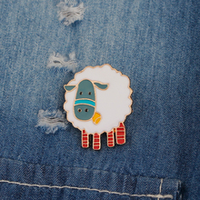Cute Blue Face Sheep Pin Brooches Jewelry Kawaii Enamel Pin Child Girl Boy Birthday Gifts Animal Badge Kids Lamb Pin for Hat Bag(China)