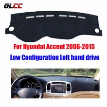 Car dashboard covers mat for Hyundai Accent 2006-2015 Low Configuration Left hand drive dashmat pad dash cover auto accessories(China)
