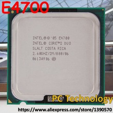 Origina Intel Core 2 Duo E4700 2.6Ghz 2M 800Mhz LGA775 Dual Core Desktop CPU processor Free shipping (ship out within 1 day)