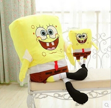 1pcs 50cm Sponge Bob Baby Toy Spongebob And Patrick Plush Toy Soft Anime Cosplay Doll For Kids Toys Cartoon Figure Cushion
