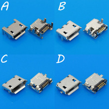 4Models,   Micro USB Jack Tablet MID Smartphone Mobile Phone Charging Socket tail plug Mix Pins 5p V8 Port