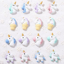 16pcs many styles unicorn charms Unicorn Jewelry necklace pendant keychain charms for DIY decoration(China)