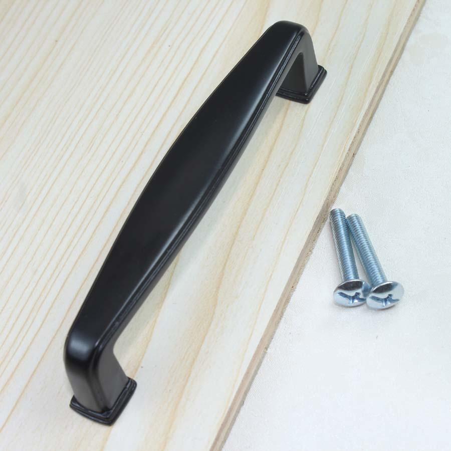 96mm modern simple furniture handles black kitchen cabinet drawer pull knob black dresser cupboard door handles antique black<br><br>Aliexpress