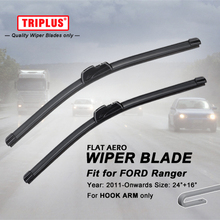"Wiper Blade for Ford Ranger (2011-Onwards) 1set 24""+16"",Flat Aero Beam Windscreen Wiper Frameless Soft Wiper Blades"